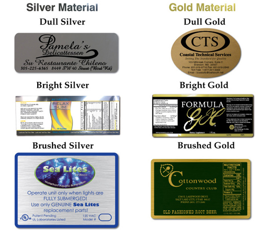Foil Labels And Tags